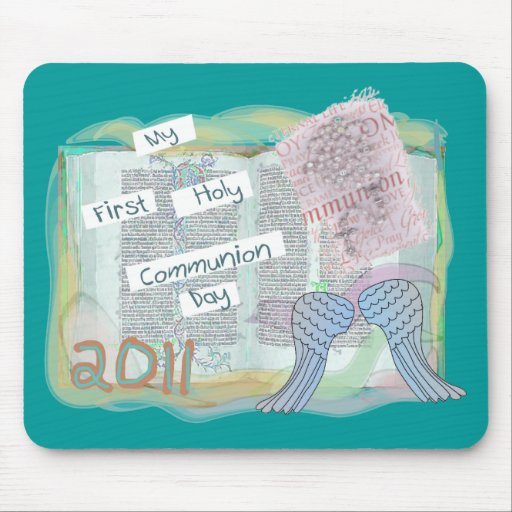 First Holy Communion Day Gifts Kids Mousepads