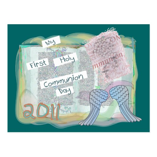 First Holy Communion Day Gifts Kids Post Card