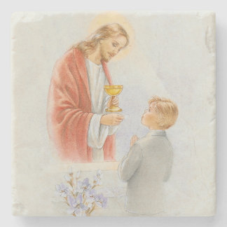 First holy communion decorative tile or coaster stone coaster