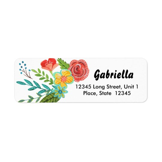 First Holy Communion Flower | Address Labels