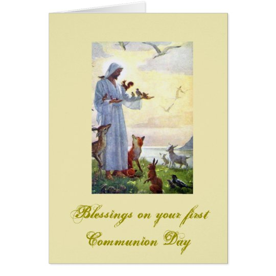 First Holy Communion - for Congratulations - Card