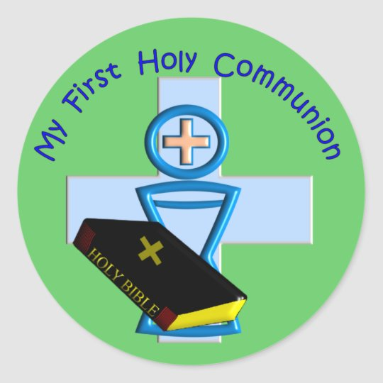 First Holy Communion Gifts for Kids Classic Round Sticker