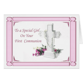 First Holy Communion Girl Greeting Card