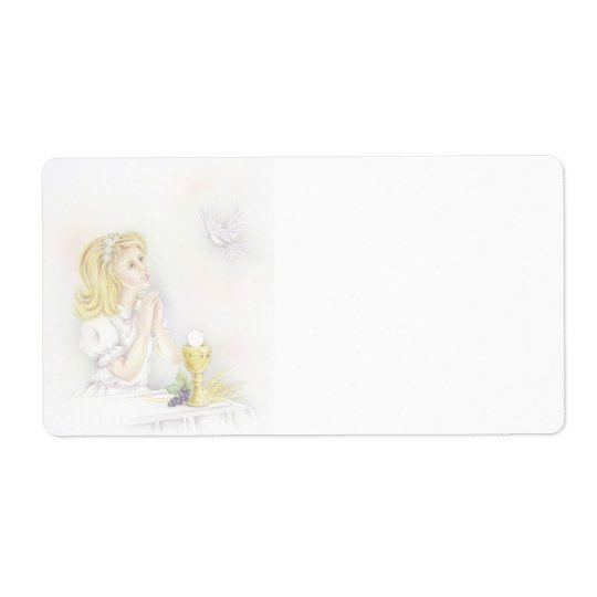 First holy communion girl labels