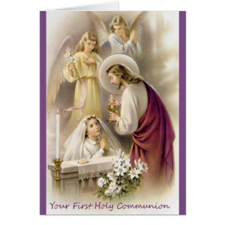 First Holy Communion Greeting Card for Girls