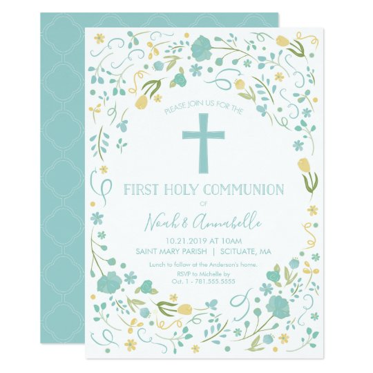 First Holy Communion Invitation - Boy and/or Girl
