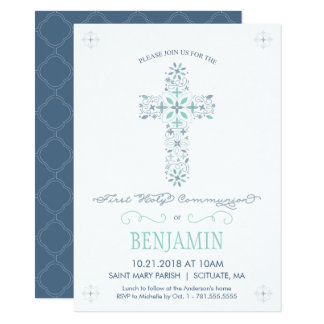 First Holy Communion Invitation - Boy's Invite