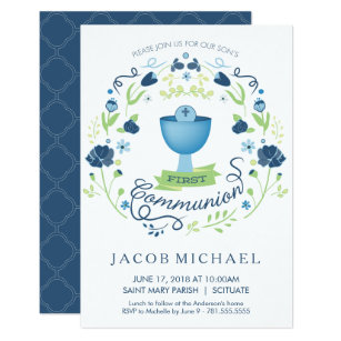 First Holy Communion Invitations Announcements Zazzlecouk
