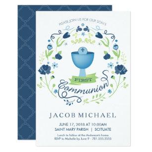 boy first communion 1st holy communion invitations zazzle co uk