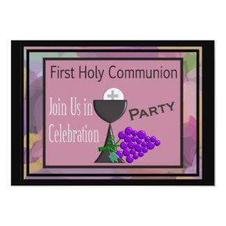 First Holy Communion Invitations Chalice Host