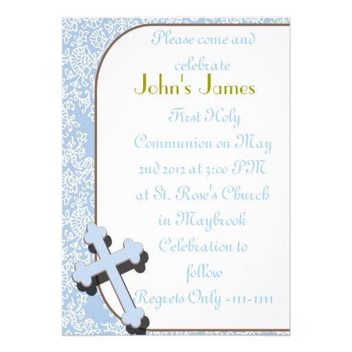 First Holy Communion Invitations FOR BOYS