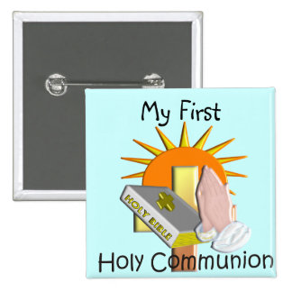 First Holy Communion Kids Gifts 15 Cm Square Badge
