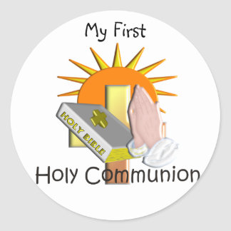 First Holy Communion Kids Gifts Round Sticker