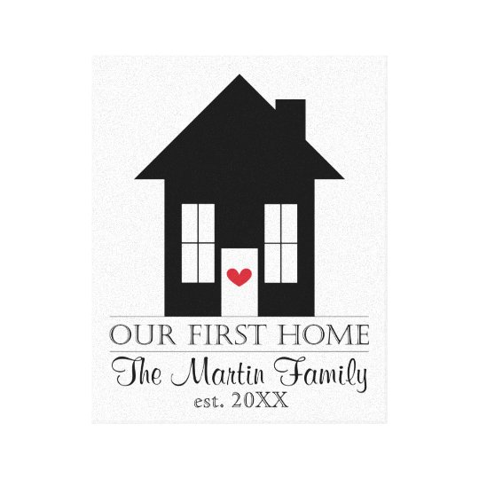 First Home Canvas Sign - Housewarming Gift