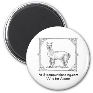 "First in the ""ANIMALS of Steampunk Landing"" Set Magnet"