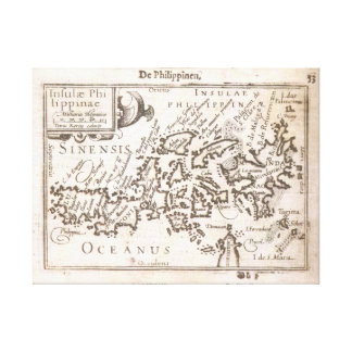 First Individual Map of the Philippines. Vintage. Canvas Print
