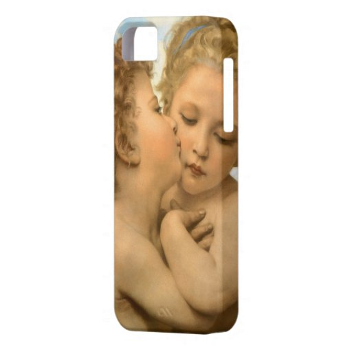 First Kiss by Bouguereau, Vintage Victorian Angels iPhone 5 Case