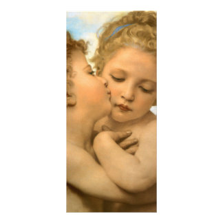 First Kiss by Bouguereau Vintage Victorian Angels Customized Rack Card
