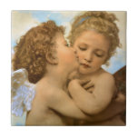 First Kiss by Bouguereau, Vintage Victorian Angels Ceramic Tiles