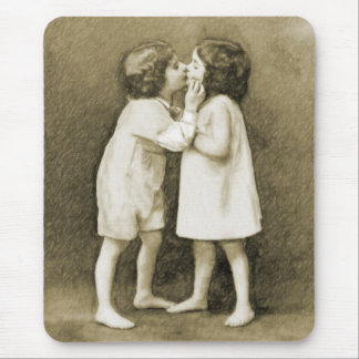 First Kiss, Sepia Mouse Pad