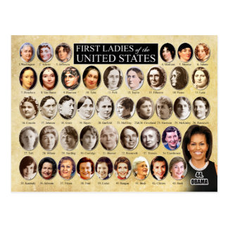 First Ladies of the United States of America Postcard