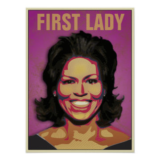 First Lady Michelle Obama - Customized Poster