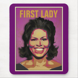First Lady Michelle Obama Mouse Mat