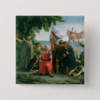 First Landing of Christopher Columbus in 15 Cm Square Badge