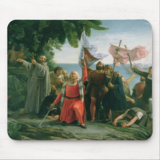 First Landing of Christopher Columbus in Mouse Mat