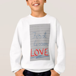 First lesson sweatshirt