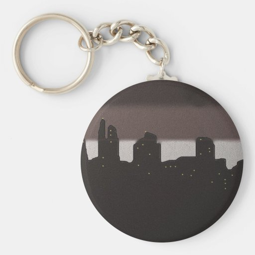 First Light in the City Key Chains