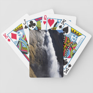 First light on Upper Yosemite Fall at peak flow Bicycle Playing Cards
