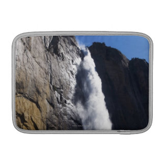 First light on Upper Yosemite Fall at peak flow Sleeve For MacBook Air