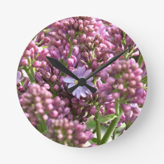 First Lilac Flower with twelve petals by BestPeopl Clocks