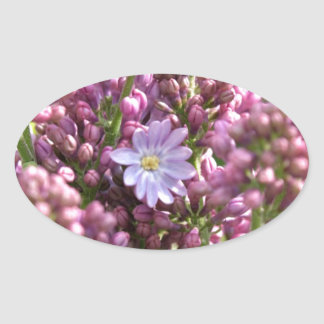 First Lilac Flower with twelve petals by BestPeopl Oval Sticker