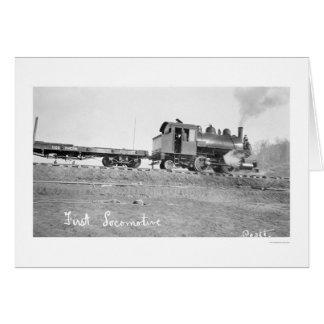 First Locomotive Alaska 1912 Greeting Cards