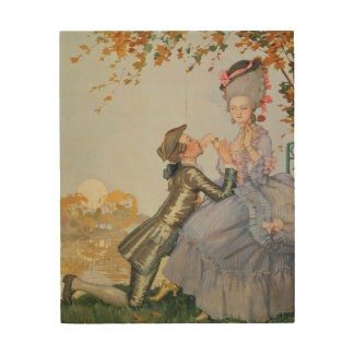 First Love, 1916 Wood Print