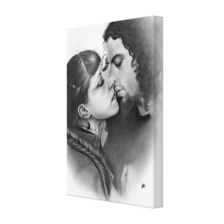 First Love Couple Wrapped Canvas Canvas Prints