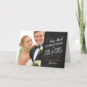first married christmas cards zazzle uk