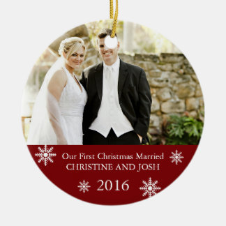 First Married II ı Customizable Christmas ornament