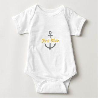 First Mate Anchor Baby Bodysuit