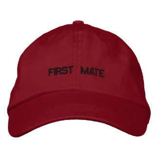 First Mate Embroidered Cap Embroidered Baseball Caps