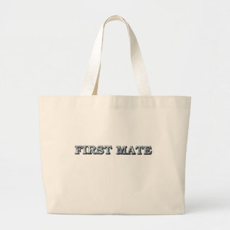 First Mate Text  Illustration Canvas Bag