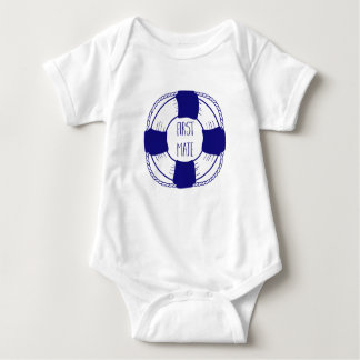 First Mate with Life Preserver Baby Bodysuit