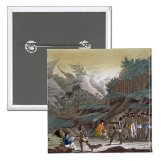 First Meeting of French Explorers with the Indigen 15 Cm Square Badge