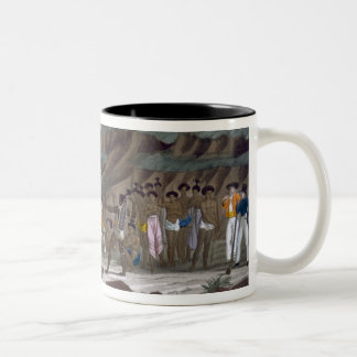First Meeting of French Explorers with the Indigen Two-Tone Coffee Mug