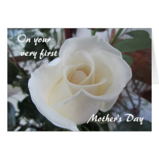 First Mother s Day-for Daughter-White Rose Card