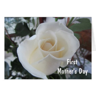 First Mother s Day-for Daughter-White Rose Cards