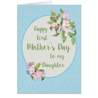 First Mother's Day for Daughter, Apple Blossom Card