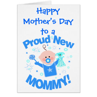 First Mother's Day Greeting Card (baby boy)